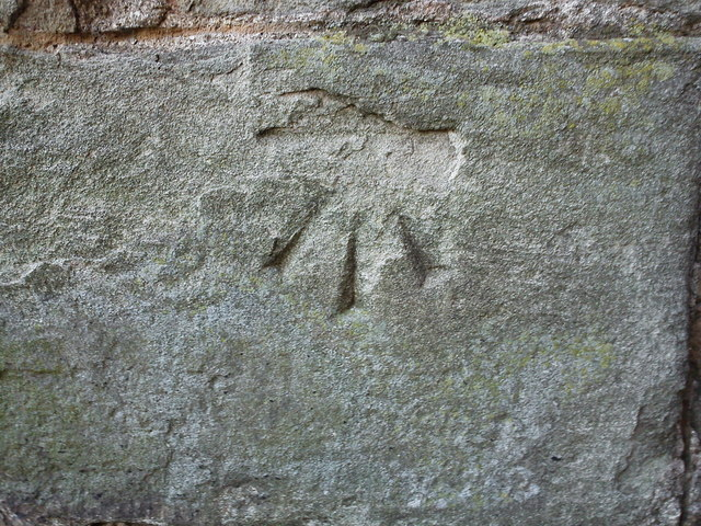 Bench Mark on St Leonard's Church, Bridgnorth