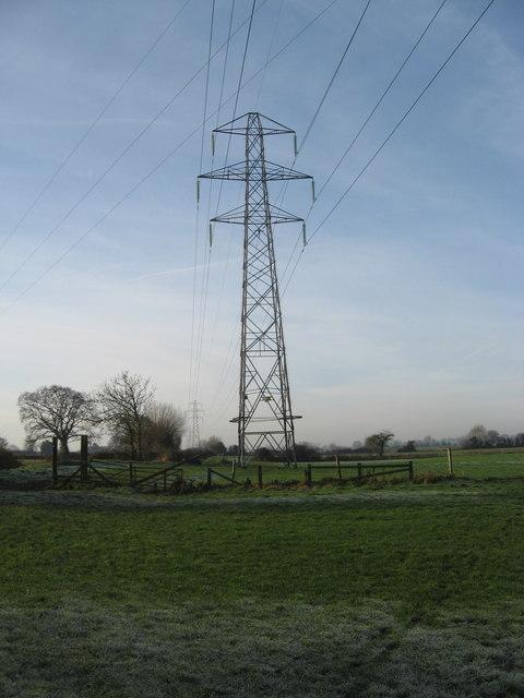 Pylons on Nailsea Moor