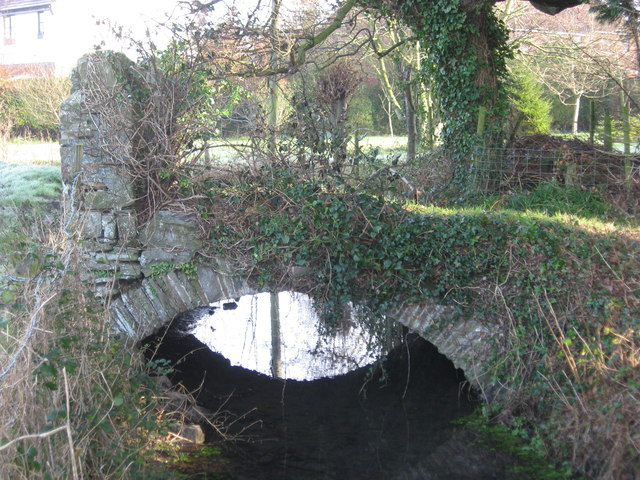 A stile and bridge combined over the Parish Brook Nailsea