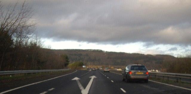 Approach to Bridge of Earn take-off