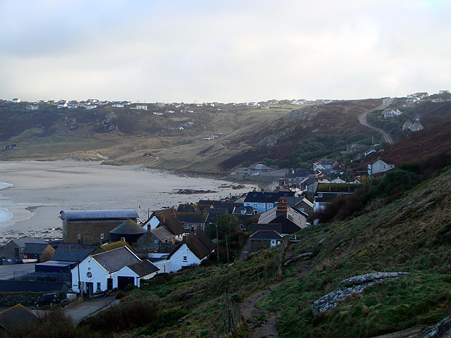 Following the South West Coastal Path down to Sennen Cove