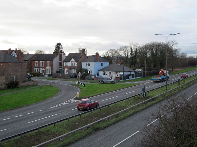 Junction of Victoria Avenue, Borrowash, with the A52