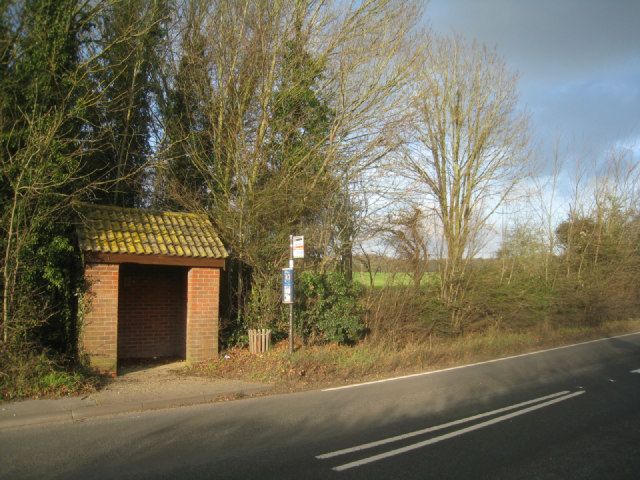 Bus shelter in Newfound