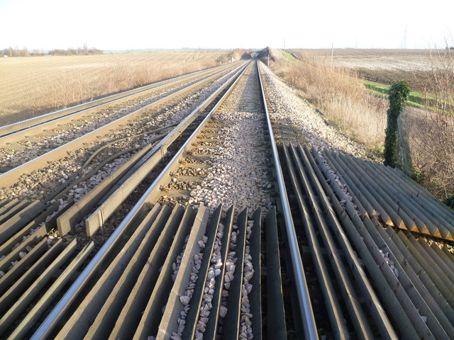 Railway line between Swanley and Farningham Road
