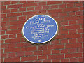 Photo of G. P. O. Film Unit blue plaque