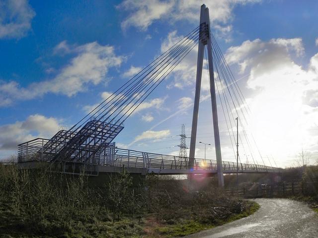 Suspension Bridge over the M60