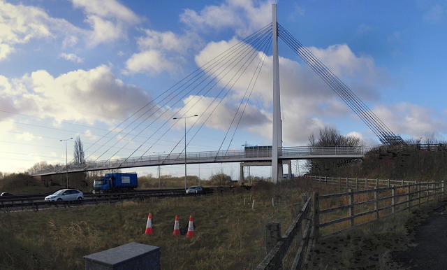 Footbridge over the M60