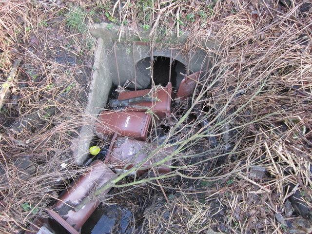 A brown wheelie bin graveyard