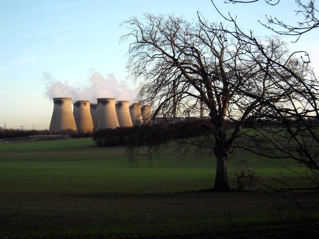 Fryston Park and Ferrybridge Power Station.