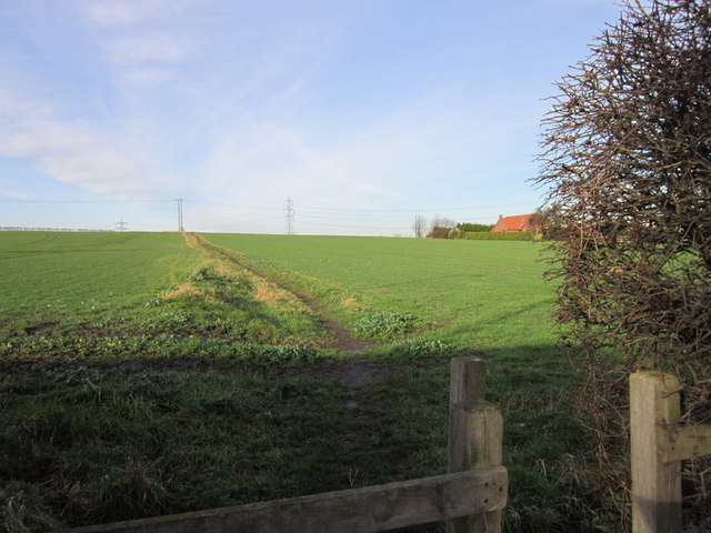 A footpath leading to Lofthouse Gate