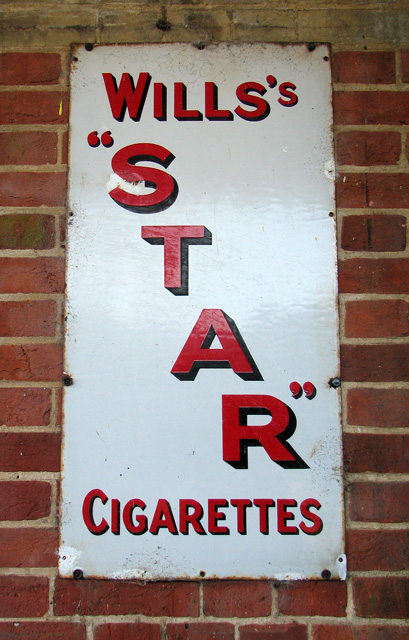 County School Station - old advertising board