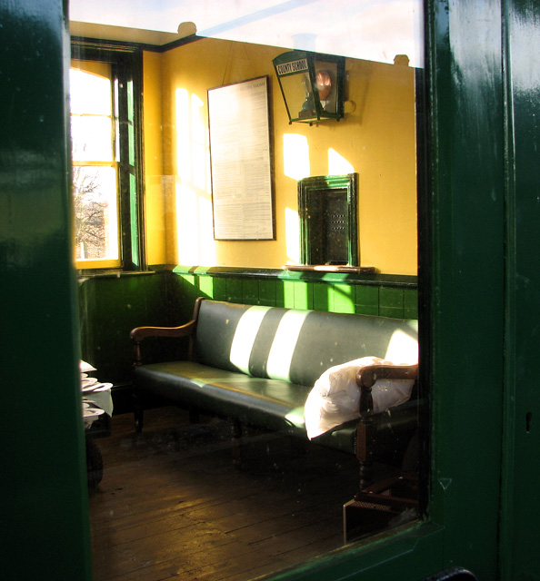 County School Station - the general waiting room