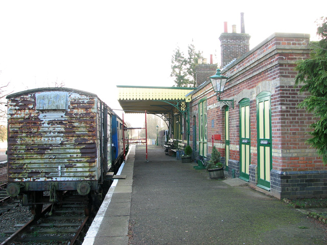 County School Station - view along the platform