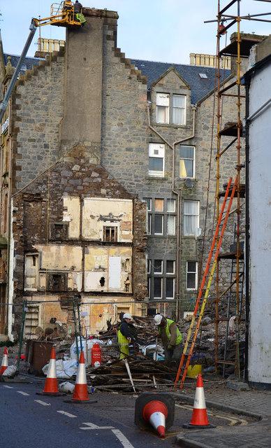 Demolition of Argyll Hotel - (1)