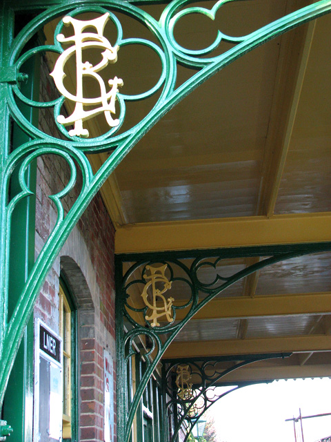 County School Station - platform canopy detail