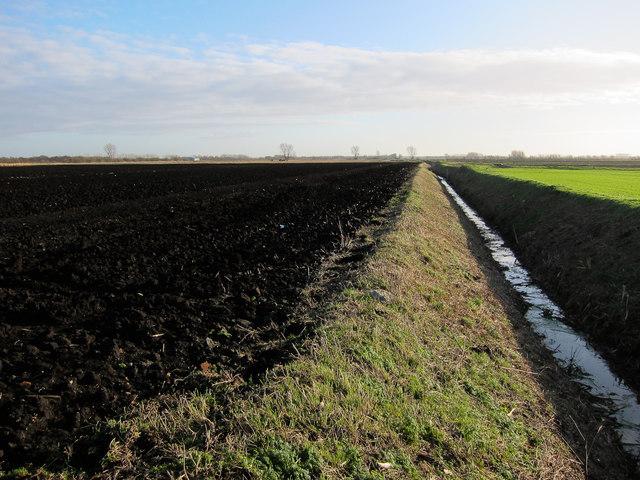 Bridleway along ditch
