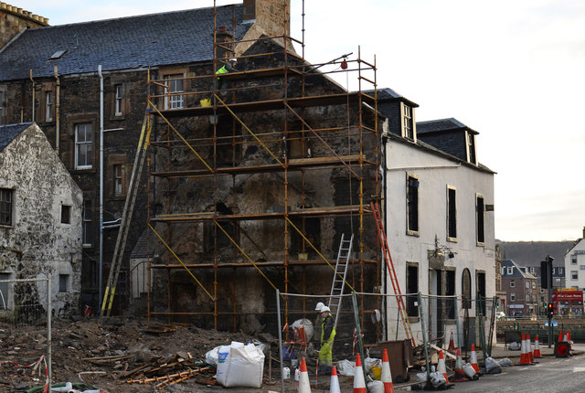 Demolition of Argyll Hotel - (3)