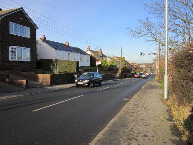 Ouzlewell Green (road) towards Carlton