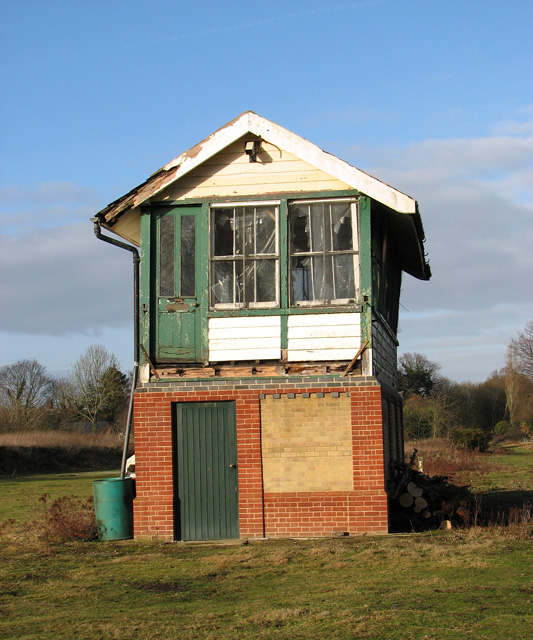 County School Station - signal box