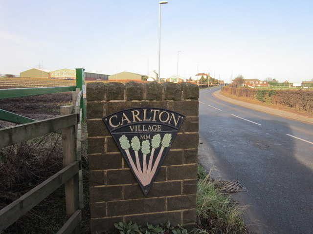 Entering Carlton in the rhubarb triangle of Wakefield