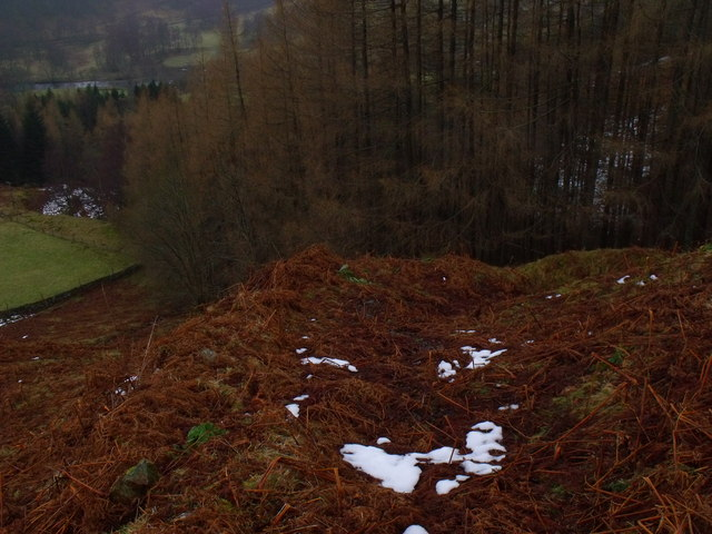 Old boundary/road above Camusvrachan in Glen Lyon