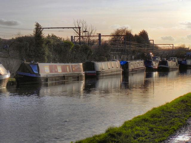 Narrowboats at Timperley