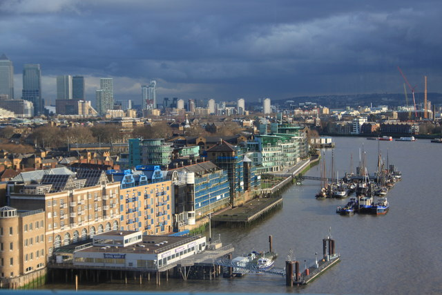 Wapping from Tower Bridge