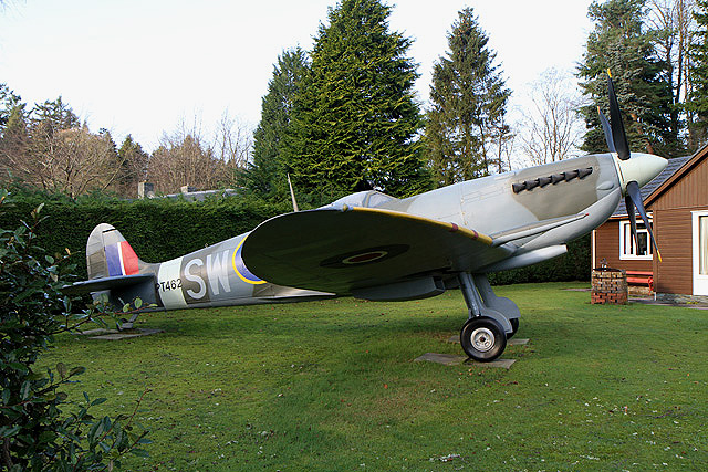 A Spitfire in a Moffat garden