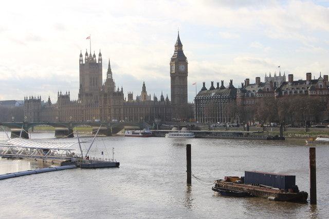 River Thames from the Golden Jubilee bridge