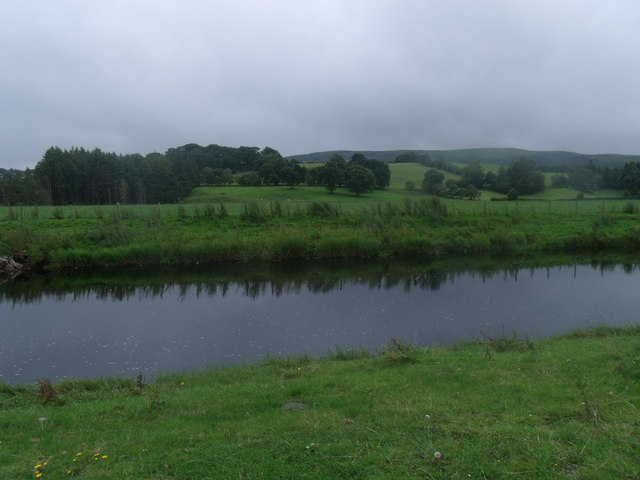 The River Banwy above the ford