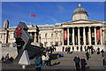 TQ2980 : The Olympic Clock in Trafalgar Square by Roger Davies