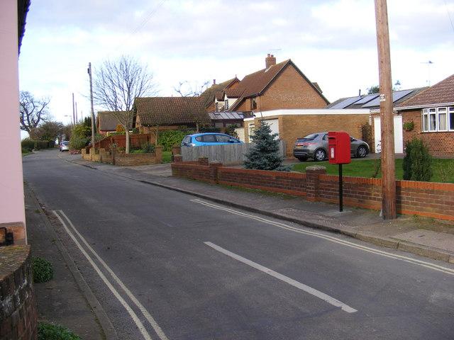 Holly Lane, Rushmere & 2 Holy Lane Postbox