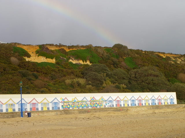Rainbow over the cliffs, Boscombe