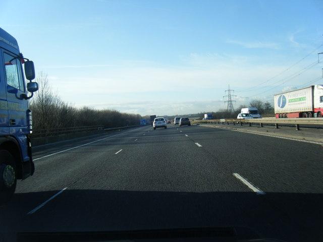 M56 westbound near Hapsford