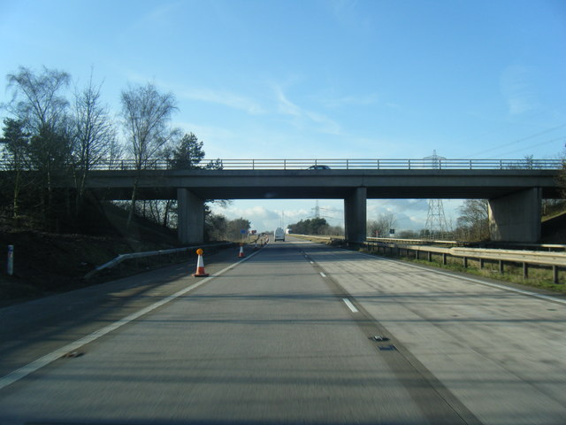 M56 passes under Whitby Lane