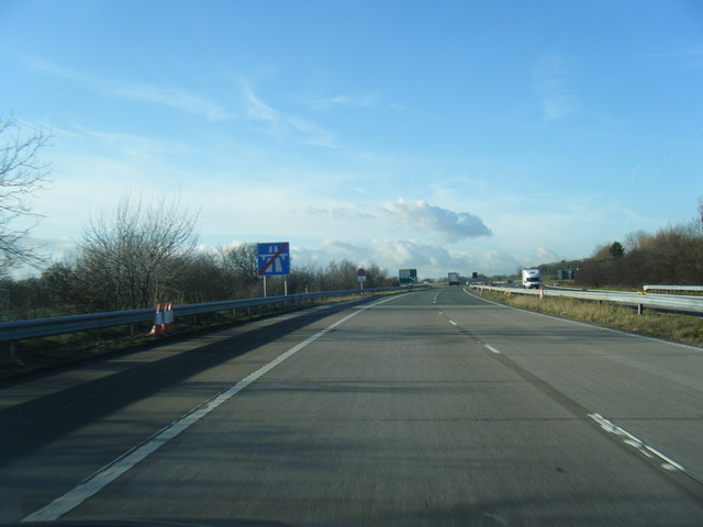 End of M56 westbound