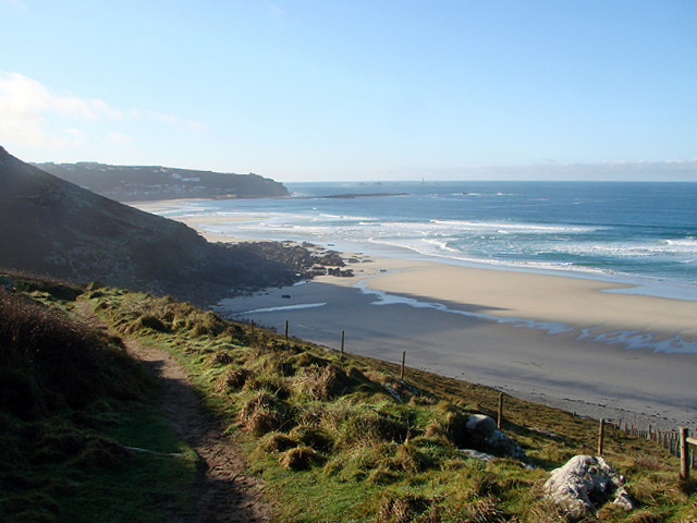 Looking back towards Sennen Cove from the South West Coastal Path