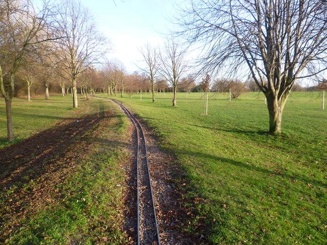 Model railway track in Swanley Park