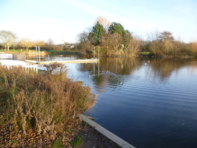 Winter view of the lake in Swanley Park