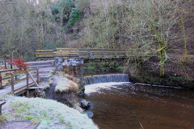 Bridge and Horseshoe Falls, Calderglen Country Park