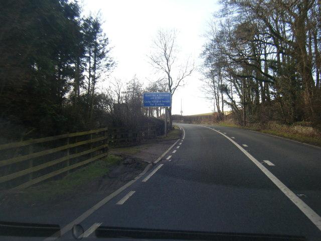 A494 near Bwlch-y-parc
