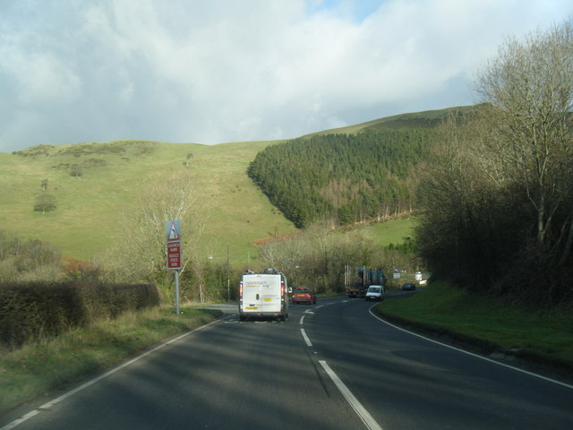A494 descending to the Vale of Clwyd