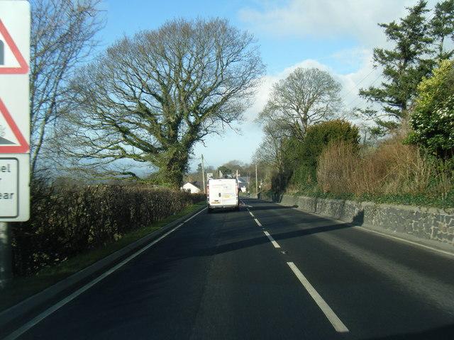 A494 nears Llanbedr-Dyffryn-Clwyd
