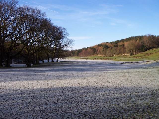 Frost coated field on the Wyre Way