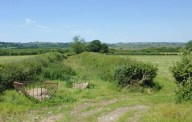 Unsurfaced lane north of Tregaron, Ceredigion
