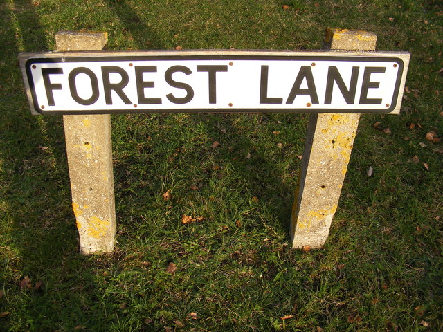 Forest Lane sign