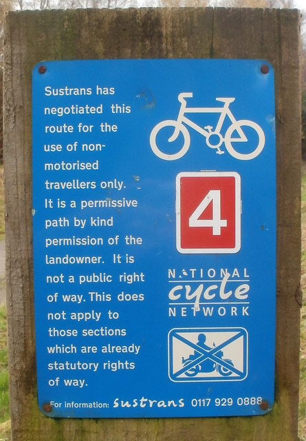 Non-motorised travellers only, National Cycle Network, Machen