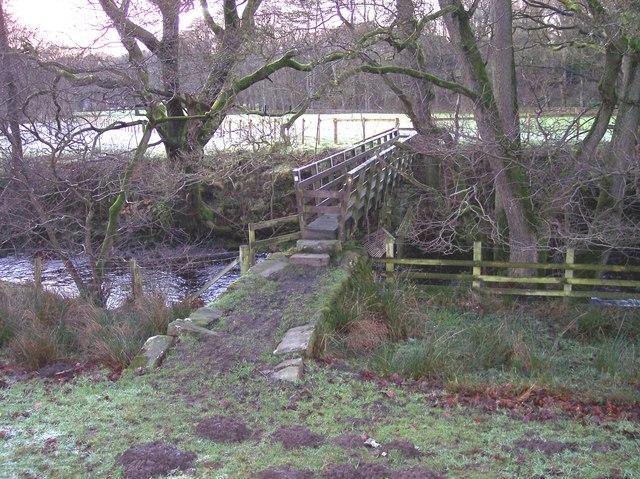 Footbridge over the Marshaw Wyre at Abbeystead