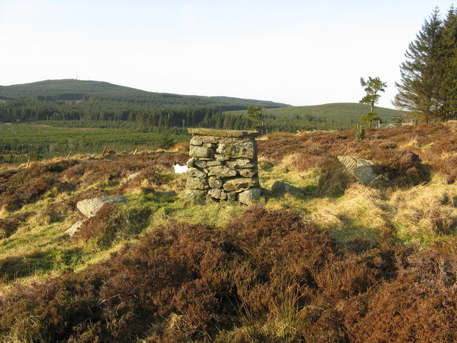 Cairn at the edge of Strathgyle Wood
