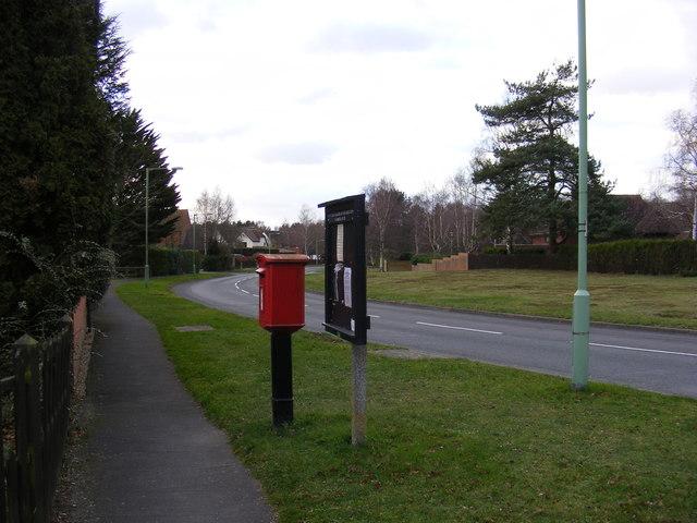 Eagle Way, Martlesham Village Notice Board & Lancaster Drive Postbox